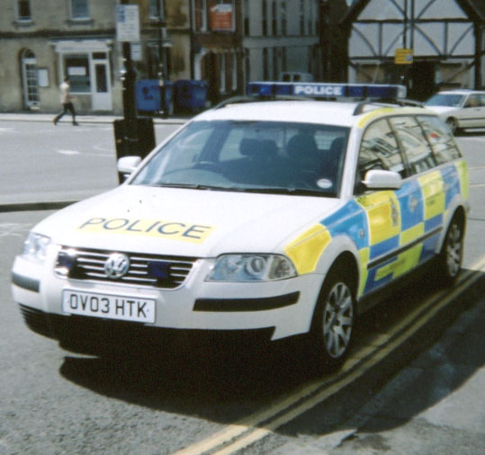 Doubled-Parked policecar